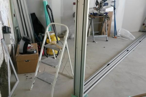 Pose de baies vitrées